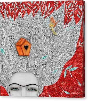 Home On My Mind Canvas Print by Natalie Briney