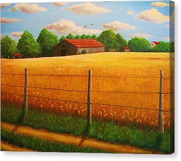 Home On The Farm Canvas Print by Gene Gregory