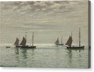 Home On The Morning Tide Canvas Print by Reginald Aspinwall