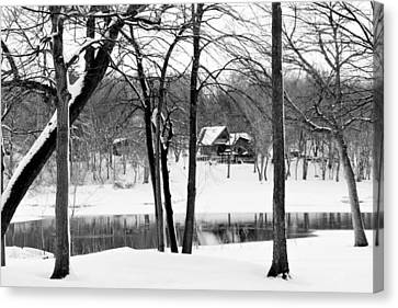 Home On The River Canvas Print by Kathy M Krause