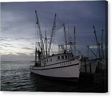 Canvas Print featuring the photograph Home Port by Nancy Taylor