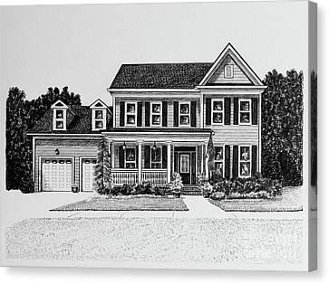 Home Portrait 2064 Canvas Print