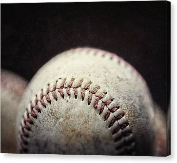 Home Run Ball Canvas Print by Lisa Russo