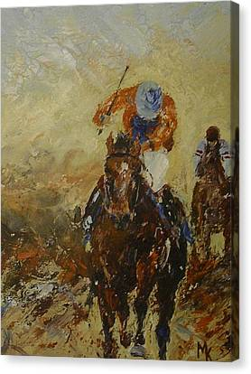 Home Straight Canvas Print by Margaret Kent
