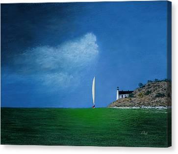 Home Stretch Canvas Print by Gordon Beck