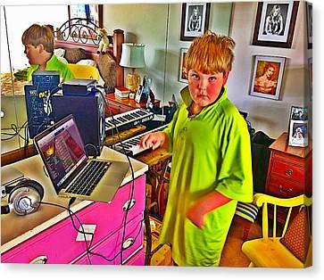Home Studio Boy  Canvas Print by Cadence Spalding