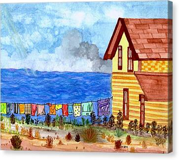 Home Sweet Home Canvas Print by Connie Valasco