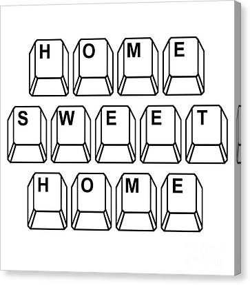 Home Sweet Home Canvas Print by Edward Fielding