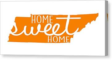 Canvas Print featuring the digital art Home Sweet Home Tennessee by Heather Applegate