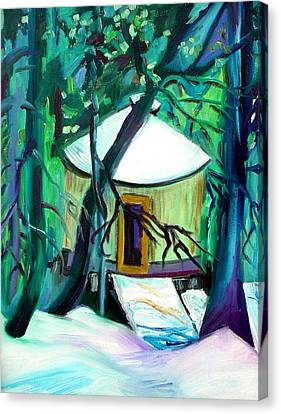 Home Sweet Yurt Canvas Print by Patricia Bigelow