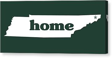 home TN on Green Canvas Print by Heather Applegate