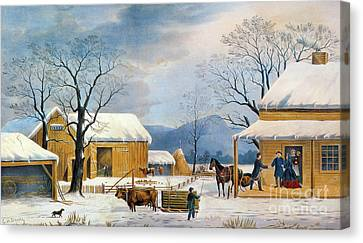 Aodng Canvas Print - Home To Thanksgiving, 1867 by Granger