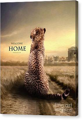 Canvas Print featuring the photograph Home2 by Christine Sponchia