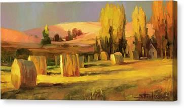 Hay Bales Canvas Print - Homeland 3 by Steve Henderson