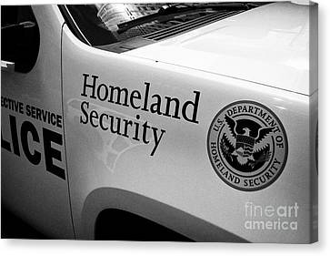 homeland security logo on vehicle New York City USA Canvas Print