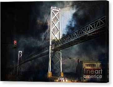 Homeless By The Bay . 7d7748 Canvas Print by Wingsdomain Art and Photography
