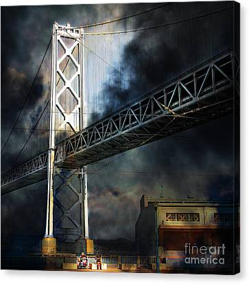 Homeless By The Bay 7d7748 Square Canvas Print by Wingsdomain Art and Photography