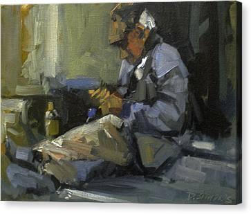 Homeless Canvas Print by David Simons