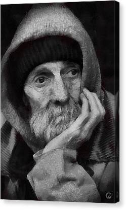 Canvas Print featuring the digital art Homeless by Gun Legler