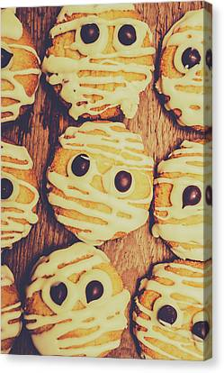 Homemade Mummy Cookies Canvas Print