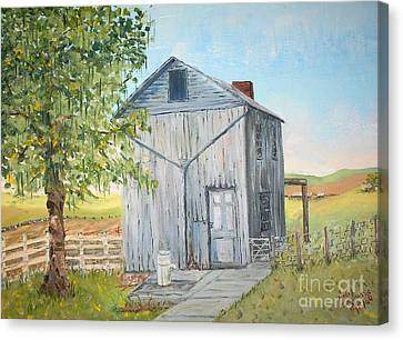 Homeplace - The Washhouse Canvas Print by Judith Espinoza