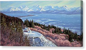 Homer Bluff Canvas Print