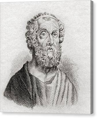 Homer. Greek Epic Poet. From Crabb S Canvas Print by Vintage Design Pics