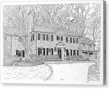 Homes Of Philadelphia's Main Line Canvas Print