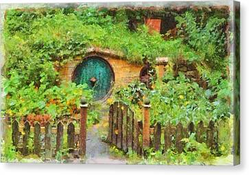 Homes Of The Shire Folk Canvas Print by Sarah Kirk