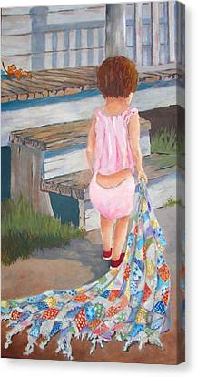 Homespun Annie Canvas Print