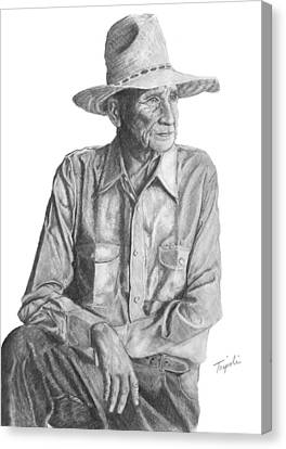 Homesteader Canvas Print by Lawrence Tripoli