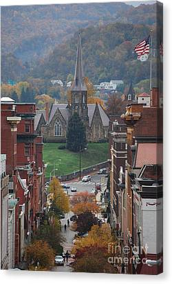 Canvas Print featuring the photograph My Hometown Cumberland, Maryland by Eric Liller