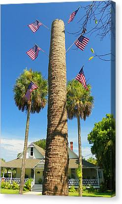 Hometown Fourth Canvas Print by Sheri McLeroy