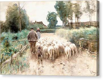 Homeward Bound Canvas Print by Anton Mauve