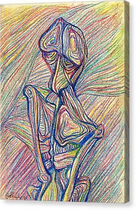 Homme Oiseau Canvas Print by Taylan Apukovska