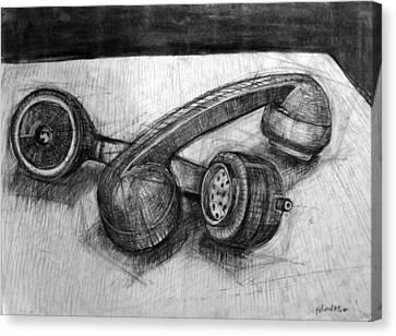 Homoerotic Phones Canvas Print by Richard Mclean