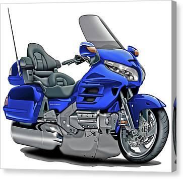 Honda Goldwing Blue Bike Canvas Print by Maddmax