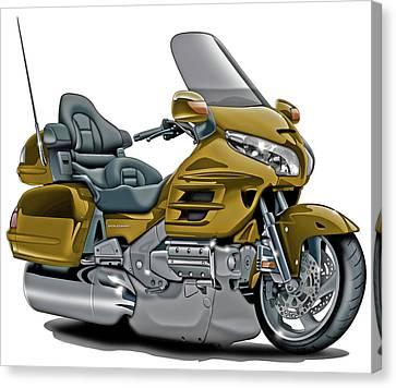 Honda Goldwing Gold Bike Canvas Print by Maddmax