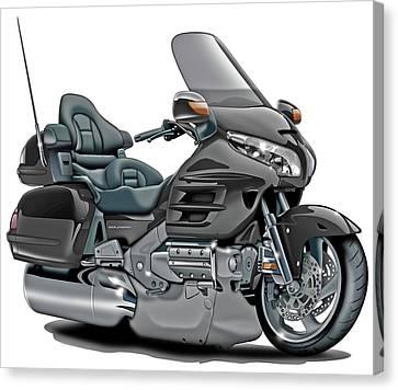 Honda Goldwing Grey Bike Canvas Print by Maddmax