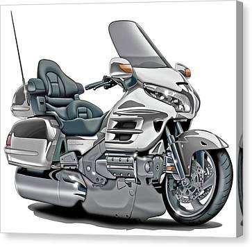 Honda Goldwing White Bike Canvas Print by Maddmax