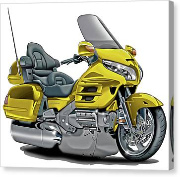 Honda Goldwing Yellow Bike Canvas Print by Maddmax