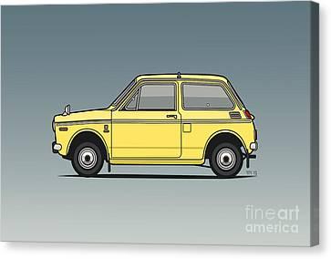 Honda N360 Yellow Kei Car Canvas Print by Monkey Crisis On Mars