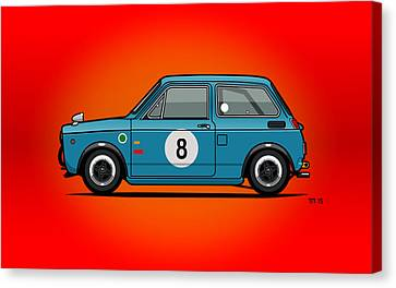 Honda N600 Blue Kei Race Car Canvas Print by Monkey Crisis On Mars