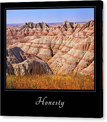 Canvas Print featuring the photograph Honesty 1 by Mary Jo Allen