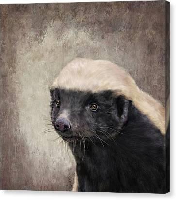 Honey Badger Canvas Print