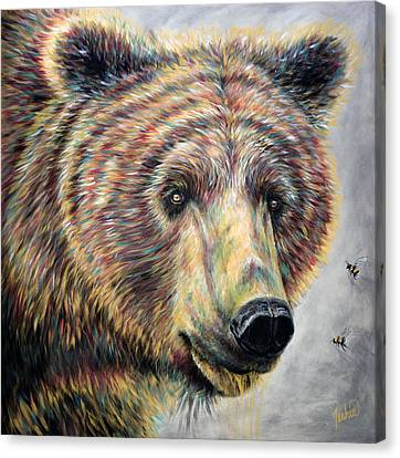 Honey Bear Canvas Print by Teshia Art
