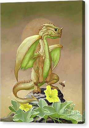 Canvas Print featuring the digital art Honey Dew Dragon by Stanley Morrison