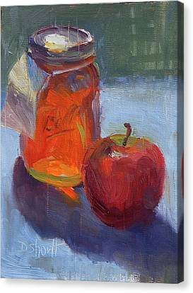 Canvas Print - Honey Jar by Donna Shortt