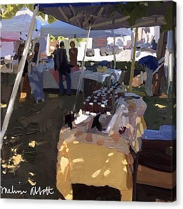 Honey Tent At Farmer's Market Canvas Print