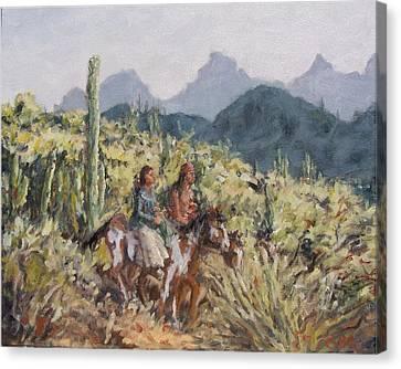 Honeymoon Trail Canvas Print by Gretchen Price